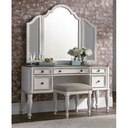 Magnolia Manor Vanity Desk & Mirror