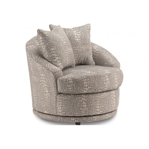 Alanna Contemporary Barrel Back Swivel Chair