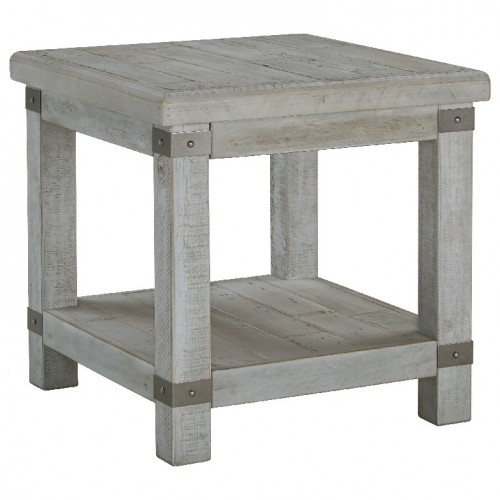 Carynhurst Industrial Rectangular End Table