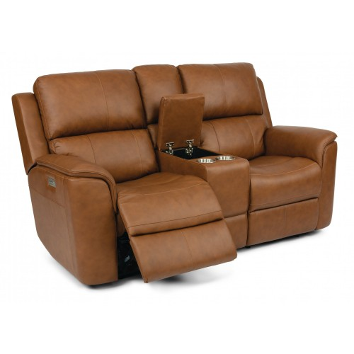 HENRY POWER RECLINING LOVESEAT WITH POWER HEADREST, LUMBAR AND CONSOLE