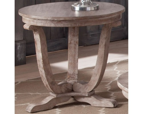 GREYSTONE MILL ROUND END TABLE