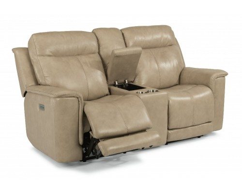 Miller Power Reclining Loveseat with Console & Power Headrests