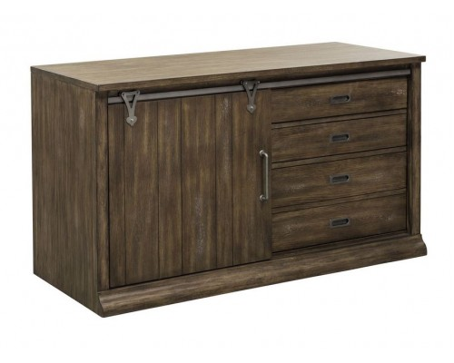Stone Brook Computer Credenza and Hutch