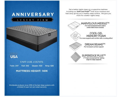 ANNIVERSARY LUXURY FIRM MATTRESS