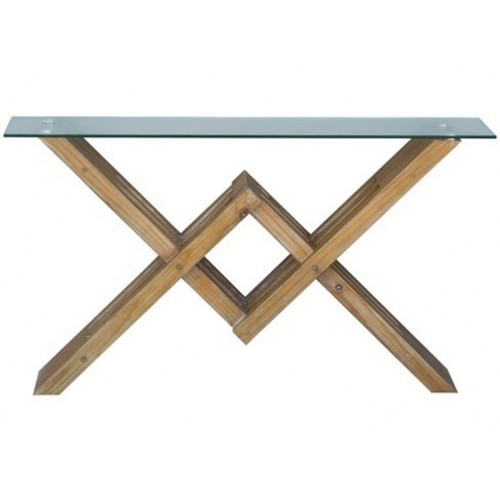 Woodwork Glass Top Console