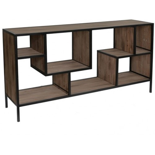Fleetwood Angled Metal And Wood Console