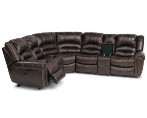 Town Leather Power Reclining Sectional