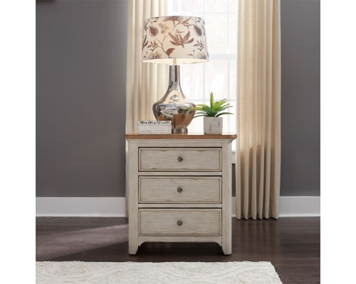 FARMHOUSE REIMAGINED 3 DRAWER NIGHT STAND