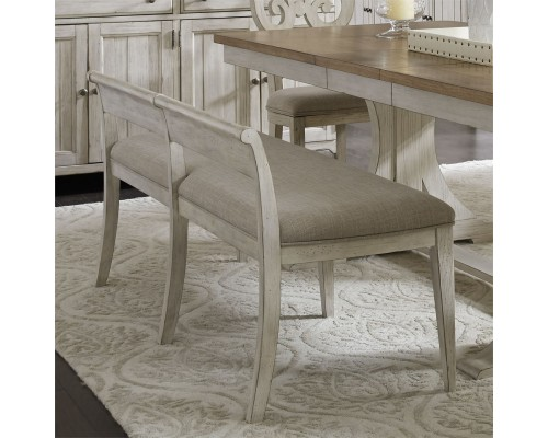 FARMHOUSE REIMAGINED UPHOLSTERED DINING BENCH