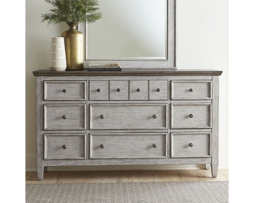 Heartland 9 Drawer Dresser AND MIRROR