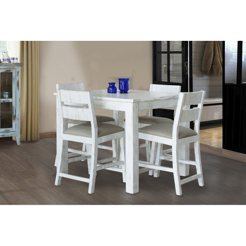 Pueblo White Storage Counter Height Dining Table