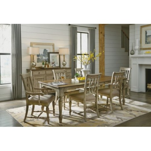 PLYMOUTH RECTANGULAR DINING TABLE & 6 CHAIRS