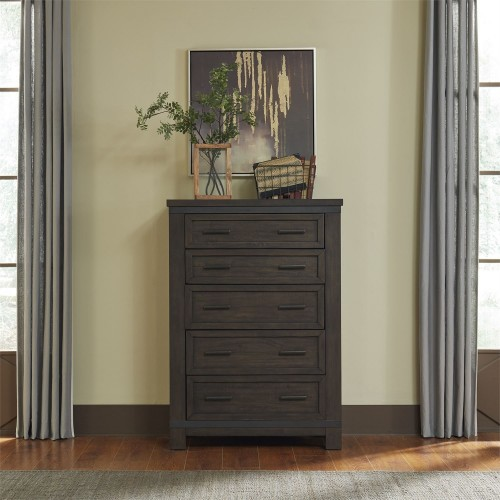 THORNWOOD HILLS 5 DRAWER CHEST