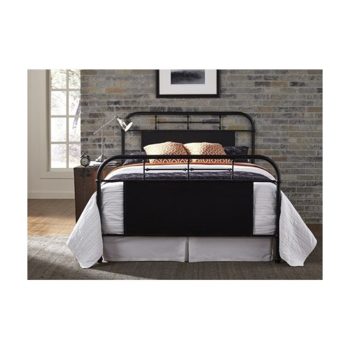 VINTAGE SERIES BLACK METAL BED