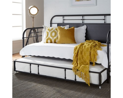 VINTAGE SERIES BLACK DAY BED W/ TRUNDLE
