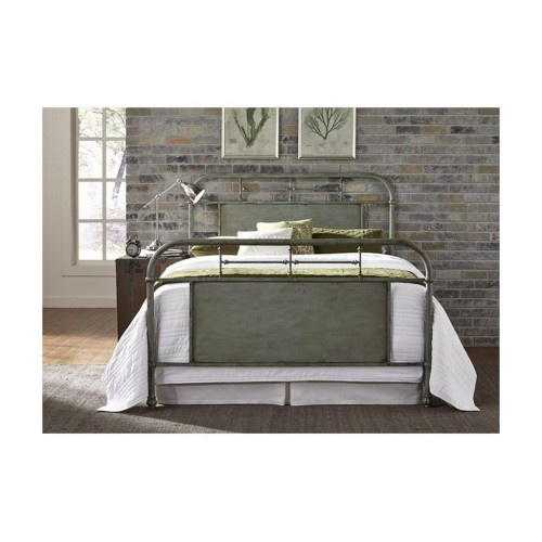 Vintage Series Green Metal Bed