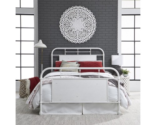 VINTAGE SERIES ANTIQUE WHITE METAL BED