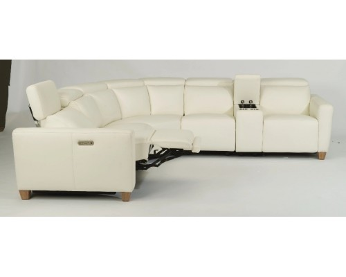 Astra MOD Leather Sectional with Power Headrests