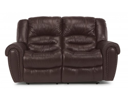 Town Leather Reclining Loveseat
